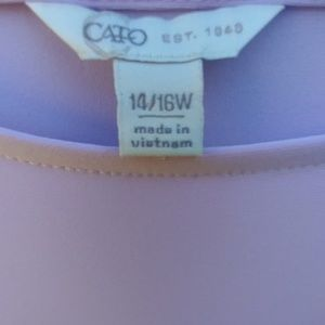 Cato Tops - Cato light lavender blouse